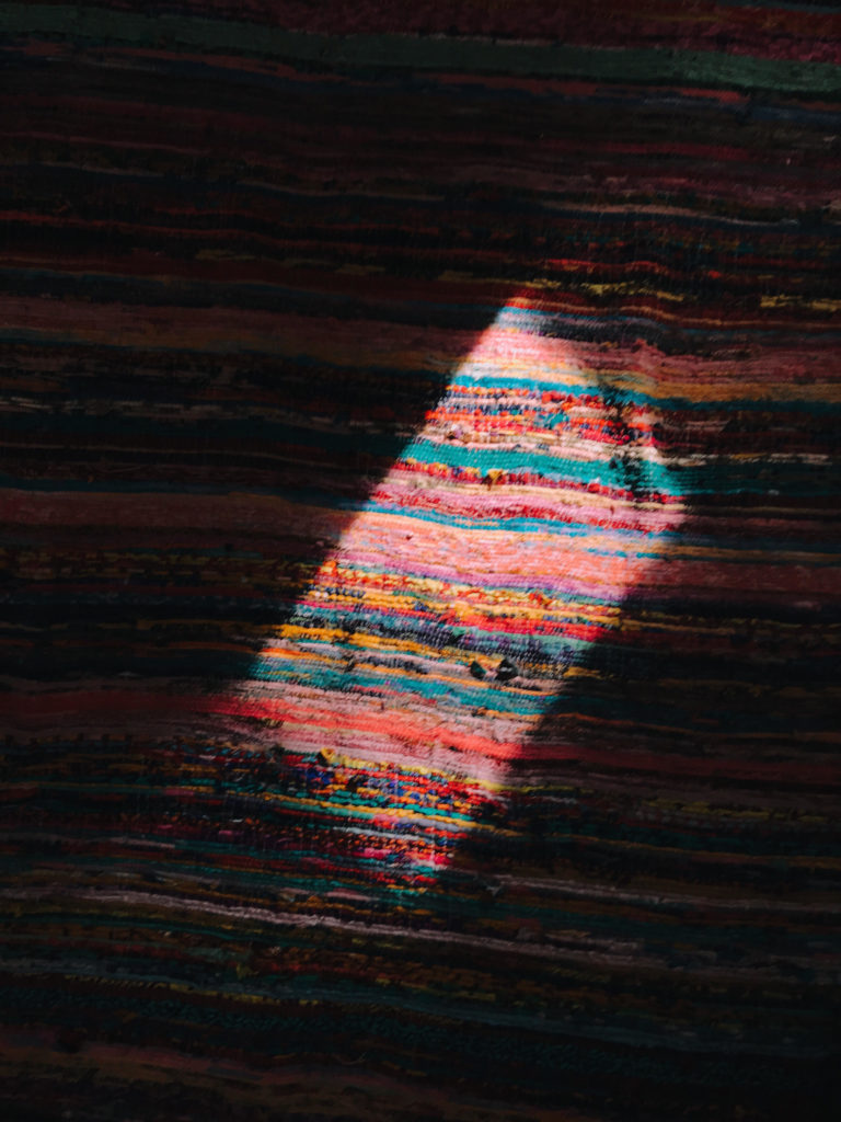 Shadows and colors in a rug